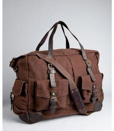 Burberry Large Washed Leather Duffle Bag in Brown for Men (cocoa)  efdf36a7f145e