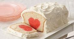 Surprise Raspberry Heart Cake