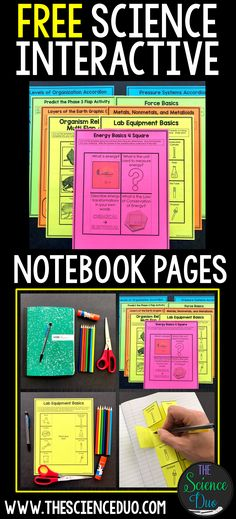 Interactive notebooks are a powerful tool to help students compartmentalize Third Grade Science, Middle School Science, Elementary Science, Science Classroom, Science Education, Teaching Science, Education College, Education Quotes, Classroom Ideas