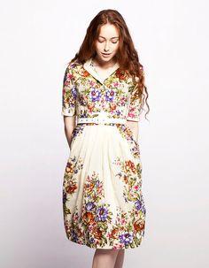 MARIA  shirtwaist dress made of woolen shawl by Mrs door mrspomeranz, £299.00