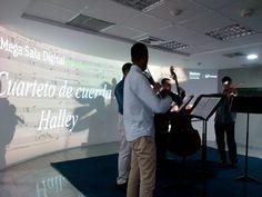 #Concierto Cuarteto de cuerdas Halley en la #MegaSalaDigitalMovistar por @fundaciontef_ve