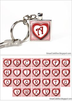 Free printable Valentine's day collage and an idea how to make this cute key chain. Click for details: http://irinascutebox.blogspot.com/2013/01/valentines-day-printable-clipart-free.html