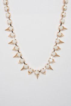 Lady Spike Necklace in Ivory - ShopSosie.com