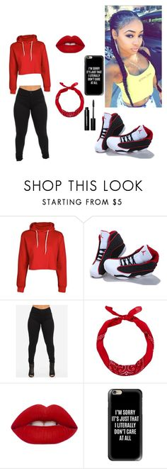 """""""Tip Toeing in my Jordans"""" by t-green-love ❤ liked on Polyvore featuring Boohoo, NIKE, New Look, Lime Crime, Casetify and Bobbi Brown Cosmetics"""