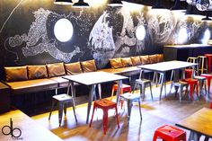 Tolix industrial boat peniche La Cancale dijon interior design rouge red black noir blog article post