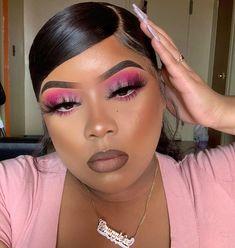 Pink Eye Makeup Looks, Pink Eyeshadow Look, Black Girl Makeup, Girls Makeup, Flawless Makeup, Glam Makeup, Skin Makeup, Eyeshadow Makeup, Beauty Makeup