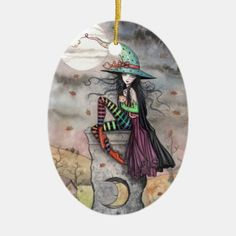 Shop Halloween Witch Ornament Enchanted October created by robmolily. Halloween Ornaments, Halloween Home Decor, Halloween 2020, Halloween Design, Halloween House, Halloween Party, Halloween Costumes, Samhain, Party Hats