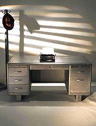 metal desk, stripped