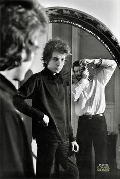 1965 ~ Bob Dylan & Daniel Kramer in Mirror