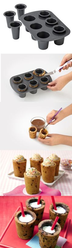 Change the way you party by trying this edible shot glasses. Instant dessert after every shot. Shots have never tasted even better. Check it out ==> | Edible Shot Glass Dessert | http://gwyl.io/edible-shot-glass-dessert/ #cookinggadgets