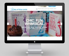 Sky of Blue website design by DK Design Studio