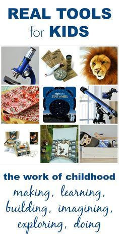 Imagine Childhood sells real tools for kids as well as high quality childrens toys. Examples include quality microscopes, tool sets, baking sets, and more.