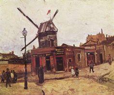 Vincent Willem van Gogh.  Le Moulin de la Galette. 1886, Öl auf Leinwand, 38,5 × 46 cm. Otterlo, Rijksmuseum Kröller-Müller. Niederlande und Frankreich. Neo-Impressionismus.  KO 01553