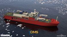 The Australian Government has provided details of Australia's new state-of-the-art icebreaker set to replace the Aurora Australis as the flagship of Australia's Antarctic Division in 2019. The new icebreaker is designed by Danish naval architects, Knud E. Hansen, and will be built by Damen Shipyards of the Netherlands. DMS Maritime, owned by British-based Serco, has been selected as the preferred tenderer in the project. Plans call for the ship to measure 156 meters in length.