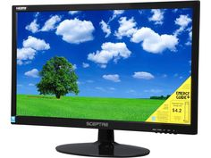 """SCEPTRE E225W-1920 Black 22"""" 5ms HDMI Widescreen LED Backlight LCD Monitor Built-in Speakers"""