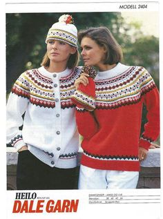 Dale 2404 Sweater Knitting Patterns, Knitting Designs, Knitting Projects, Crochet Patterns, Vintage Knitting, Baby Knitting, Norwegian Knitting, Scandinavian Pattern, Fair Isle Knitting