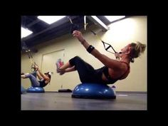Some tough moves using the TRX and Bosu Body Rock Workout, Bosu Workout, Trx Workouts For Women, Gym Workouts, Trx Training, Suspension Training, Bosu Ball, Yoga Benefits, No Equipment Workout