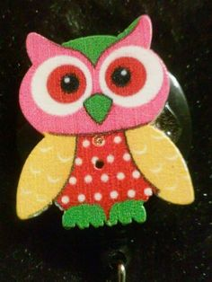 Owl Retractable ID Badge Holder Lanyard Nurse holder in Clothing, Shoes & Accessories, Women's Accessories, ID & Document Holders | eBay