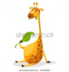 Wild mammal safari giraffe with slim neck. Tropical giraffe sitting with long neck. Cartoon Giraffe, Cute Giraffe, Game Design, Cartoon Characters, Mammals, Safari, Character Design, Tropical, Slim
