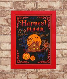 Cross Stitch Pattern PDF Harvest Moon Original by TimeForStitch