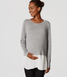 Primary Image of Maternity Two In One Sweater