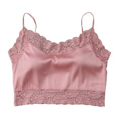 Satin Lace Panel Cropped Top Pink (£6.44) ❤ liked on Polyvore featuring tops, crop tops, shirts, crop, cropped shirts, cut-out crop tops, red satin top and satin crop top