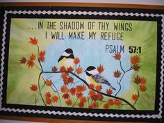 Church Bulletin board-Psalm 57:1