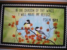 Church Bulletin board-Psalm 57:1