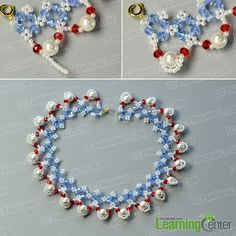 finish this flower glass beads necklace