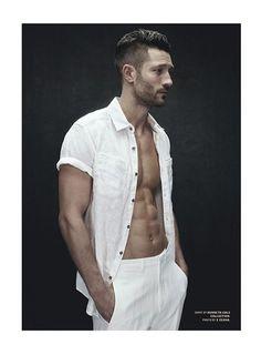 John Halls Models Spring White Fashions for Details