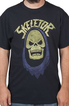 Skeletors Hood Shirt: 80s Cartoons Masters Of The Universe He-Man Tee