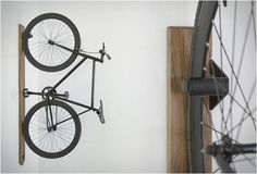 Artifox first caught our attention with their beautiful Desk now their creative team have introduced a series of new products including new sitting and standing desks, a desktop accessory, and this elegant bike rack. Built in the USA from quality Bicycle Storage, Bicycle Rack, Bici Retro, Vertical Bike Rack, Range Velo, Bike Shelf, Bike Hanger, Diy Cabin, Bike Room