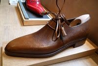 Corthay Ghillie Style Shoe in Brown