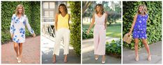 What to Wear For All Of Your Upcoming Events - Living in Yellow Living In Yellow, Scalloped Skirt, Tie Waist Shorts, Spring Shower, Yellow Springs, Wide Leg Cropped Pants, Brunch Wedding, Summer Events, Upcoming Events