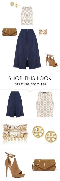 """""""Untitled #107"""" by christina-batts on Polyvore featuring Whistles, Alexander McQueen, River Island, Tory Burch, ALDO and Yves Saint Laurent"""