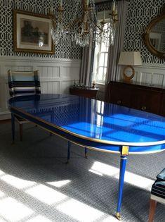 cobalt lacquer table.