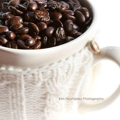 Coffee Beans  8x8 Fine Art Photography  coffee  by kimfearheiley, $30.00