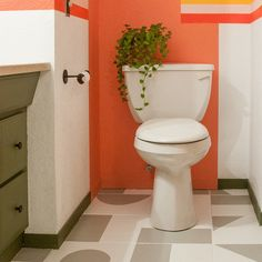 We love seeing everyone's creativity come to life! 🙌 Banyan Bridges transformed these bathroom floors and created a fun design using Rust-Oleum Home floor paint. You can find Rust-Oleum Home at Home Hardware and Canadian Tire!  . #RustoleumCAN #RustoleumHome #FloorPaint #Flooring #PaintedTiles #BathroomTransformation #BathroomDesign #BathroomRemodel #BathroomGoals Painting Bathroom Tiles, Bathroom Floor Tiles, Tile Floor, Bathroom Goals, Painted Floors, Home Hardware, Home Goods, Cool Designs, Easy Diy