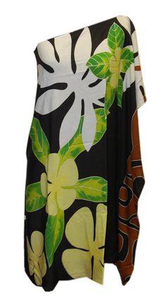 Hawaiian Black Plumeria One Shoulder Short Dress Luau Dress, Hawaii Dress, Dress P, Polynesian Dance, Different Dress Styles, Island Wear, Clothing Patterns, Hawaiian, Short Dresses