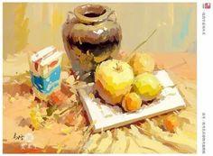 Still Life Sketch, Still Life 2, Casein Paint, Palette Knife Painting, Gouache Painting, Art Tutorials, Anatomy, Cool Art, Exercises