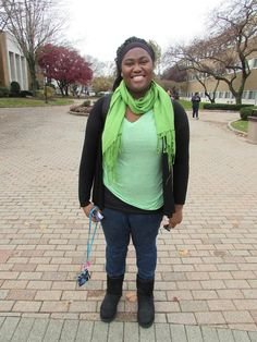 """Humans of UB  Why did you choose Psychology as your major? """"I want to help people. What I really want to do is work with the FBI to help find missing children."""" — at University of Bridgeport."""