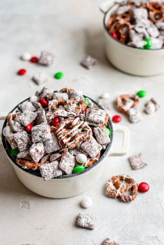 Christmas Puppy Chow | A Cookie Named Desire Best Christmas Recipes, Christmas Sugar Cookies, Christmas Desserts, Christmas Treats, Holiday Recipes, Christmas Puppy Chow, Holiday Treats, Peanut Butter Alternatives, Yummy Healthy Snacks