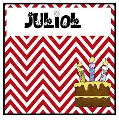 Els mesos de l'any pel cartell d'aniversaris. Classroom Organization, Classroom Decor, Playing Cards, Teacher, Scrapbook, School, Birthday, Primers, Murals