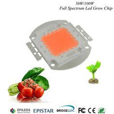 Hydroponice 1 watt 3 watt 5 watt 50 watt/100 watt led wachsen chip epistar 35mil led chip, vollspektrum 400nm-840nm für indoor-anlage wachsen beleuchtung