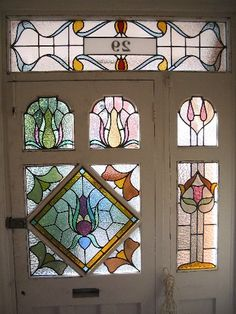 Edwardian Stained Glass Stained Glass Door, Stained Glass Designs, Stained Glass Panels, Stained Glass Projects, Stained Glass Patterns, Leaded Glass, Mosaic Glass, Drawing Wallpaper, Greenhouses