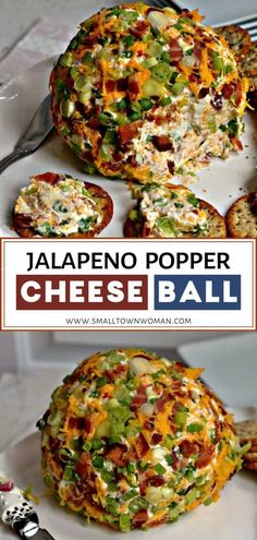 Jalapeno Popper Cheese Ball Recipe is an easy Super Bowl appetizer full of crisp. - Jalapeno Popper Cheese Ball Recipe is an easy Super Bowl appetizer full of crisp smoked bacon, spic - Jalapeno Poppers, Aperitivos Super Bowl, Appetizers For Party, Appetizer Recipes, Food For Superbowl Party, Food For Parties, Super Bowl Appetizers, Super Bowl Essen, Fingerfood Baby