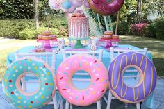 Donut Party Supplies for Teenage Girls, Birthday Party Theme Ideas and Supplies For Girls. How to host little girls party - even for birthday! Halloween 1st Birthdays, 1st Birthday Party For Girls, 1st Birthday Themes, Donut Birthday Parties, Birthday Party Decorations, Baby Birthday, Birthday Cakes, Donut Party Supplies, Pusheen Birthday
