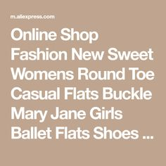 Online Shop Fashion New Sweet Womens Round Toe Casual Flats Buckle Mary Jane Girls Ballet Flats Shoes For Women Plus Size 33~43 Black/Beige | Aliexpress Mobile