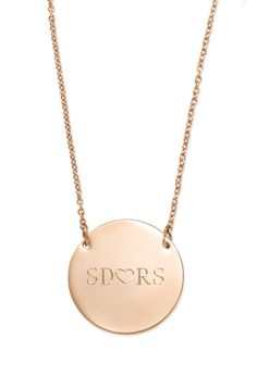 Signature Engravable Disc Necklace Rose Gold - Stella & Dot