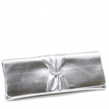 From Touch ups comes this clutch bag called Loretta. Bright silver with horse shoe diamanté centre trim. Does have matching shoes called Katrina and Available from The Wedding Boutique, Dalston